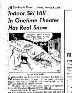 ST - Woodland Theater - ski - February 4 1960 - clip
