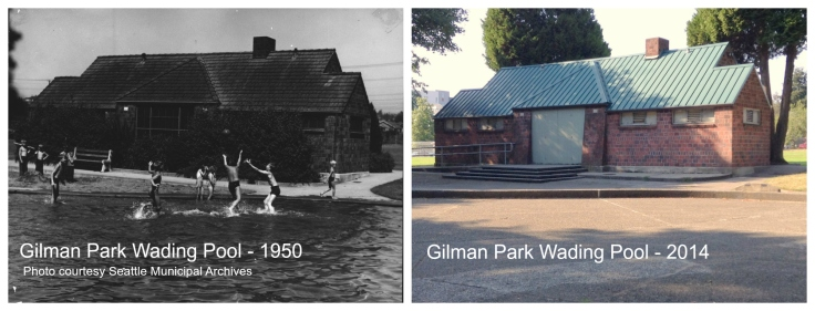 Then & Now - Gilman Park Pool - 1950