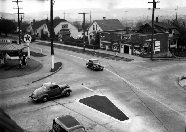 3rd and 65th - looking SW - 1944