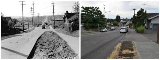 Then and Now - 65th west from 3rd