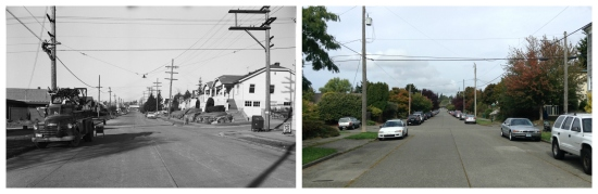 Then and Now - Looking North at 5th and 60th - 1957