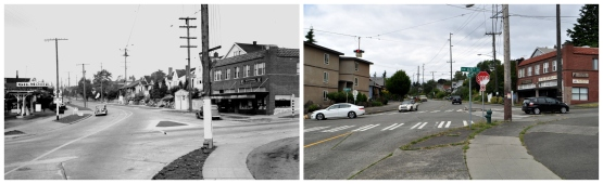 Then and Now - Looking north from 3rd and 65th