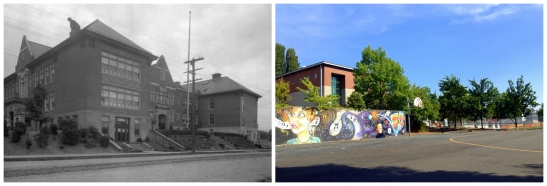 Then and Now - West Woodland Grade School