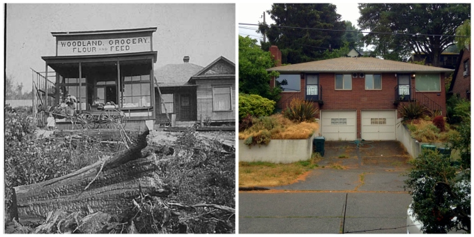 Then and Now - Woodland Grocery Flour and Feed