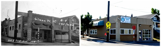 Then & Now - SE corner of 5th & 65th