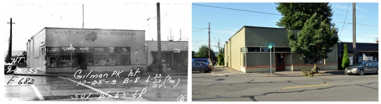 Then & Now - SW corner of 5th & 65th