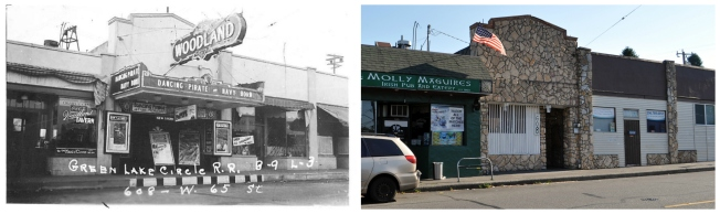 Then & Now - Woodland Theater - 1937