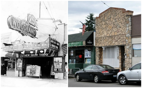 Woodland Theater - then and now