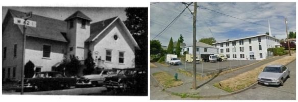 Then & Now - NE corner of 5th and 62nd
