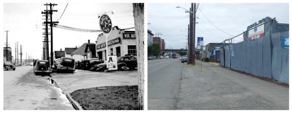 14th Ave NW and Leary - 1951 and 2016
