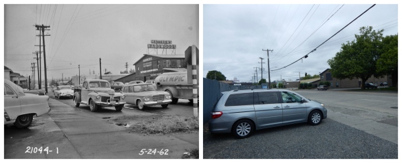 14th Ave NW and Leary - 1962 and 2016 - looking NE
