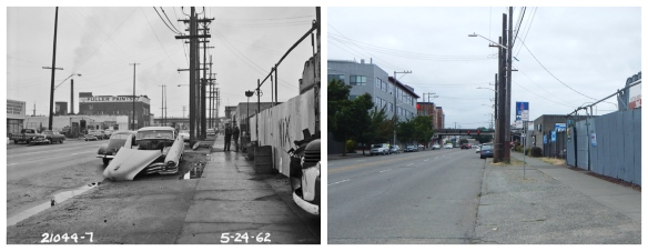 14th Ave NW and Leary - 1962 and 2016