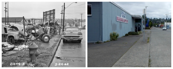NW 47th and Leary - 1962 and 2016